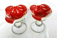 Coastal Collection Home Studio Lobster Butter Warmer Bowls With Candle and Stand