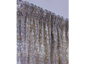 William Morris Snakeshead Pewter & Gold Fully Lined Curtains & Tie Backs