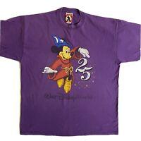 Vintage Mickey Inc Walt Disney World 25th Anniversary T-Shirt Tee XL Purple USA