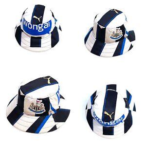 Newcastle United FC Retro PUMA Football Kit Shirt Reversible Bucket Hat Upcycled