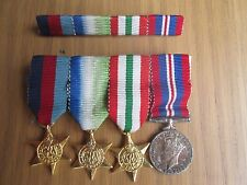 WW2 Medal Group Of 4 1939-45 Star, Italy Star, Atlantic Star War Medal minatures