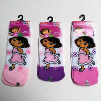 Nickelodeon 3 Pair Assorted Dora The Explorer Socks Size 6-8 Girls Socks