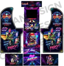 Arcade 1UP Cabinet Artwork FULL SETT