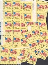 """{BJ Stamps} 2879 """"G"""" and Old Glory.100 Unused (20)¢ yellow stamps.  Issued 1994"""