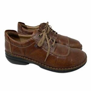 Finn Comfort Womens Lexington Oxfords Shoes Brown Leather Lace Up 9-9.5 EUR 40