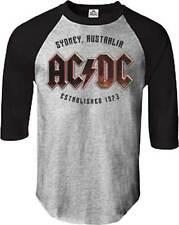 ACDC EST 1973 SYDNEY TOUR T - SHIRT USA IMPORT BLACK ALL OVER FRONT PRINT COTTON