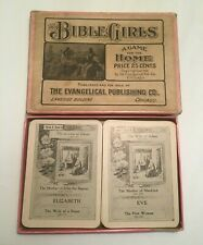 Bible Girls Card Game 1905 The Evangelical Publishing Co. complete Rare Vintage
