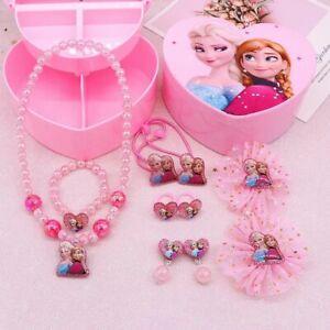 Frozen Elsa Peppa Jewellery Box Necklace Earring Princess Grils Xmas Gift