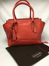 COACH Legacy CANDACE Smooth Red Leather Handbag 19890