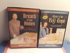 Lot of 2 Perry Stone DVDs: Mystery of the Holy Temple, Breath of the Holies