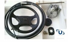 NEW  2.14m~7FT UNIVERSAL BOAT STEERING WHEEL SYSTEM QUICK CONNECT STEERING KIT