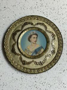 Very Old & Original 50s Queen Elizabeth 11 1953 Coronation Tin By Meltis Limited