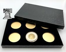 Air-tite Coin Holder Box Gold Insert Black Ring + Model A Storage Capsule Case