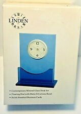 CONTEMPORARY MINERAL GLASS TABLE CLOCK-FLOATING DIAL