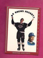 RARE KINGS WAYNE GRETZKY / BO JACKSON BO KNOWS HOCKEY CARD (INV# A364)