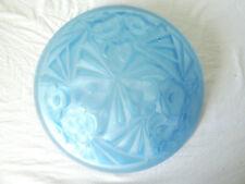 Vasque de lustre ART DECO 1930 verre bleu moulé pressé