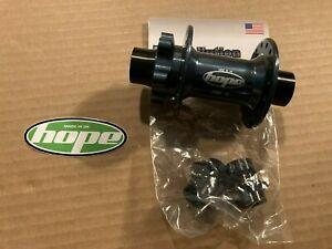 Hope Pro II Gunmetal Front Hub 20mm thru axle and 15mm adapters
