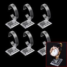 6Pcs Clear Plastic Bracelet Cuff Watch Display Stand Holder Jewelry Organizer