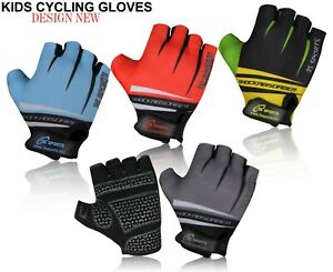 CHILDREN KIDS BOYS GIRLS PADDED CYCLING GLOVES NEW CYCLE BICYCLE BMX BIKE GLOVES