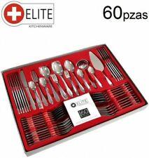 ELITE KITCHENWARE 127121 Set de Cubiertos de 60 Piezas - Plata