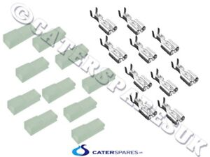 10 X 6mm Resistente Al Calor Eléctrico Pala Terminal Fastron & Nylon Fundas