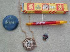 HARRY POTTER Studio Tour Pen Pin Badge Gryffindor Crest Necklace Timer Necklace