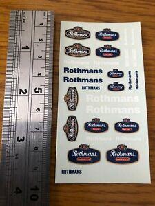 1:43 DECALS ROTHMANS Race Rally Motorsport