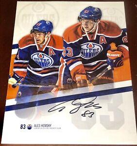 ALEX HEMSKY fmr. Edmonton Oilers NHL auto autograph signed hockey ephemera photo