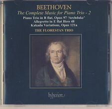 Beethoven - Florestan Trio: Piano Trio Archduke, Allegretto, Kakadu Var Like New