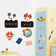 Mickey Minnie Mouse Blackboard Labels Kids Name Wall Sticker Nursery Decal Decor