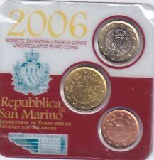 coincard SAN MARIN 3 pièces 2006