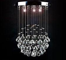 LED Decken Lampe Kristall Leuchte funkelnd Tröpfchen Kugel Kronleuchter 30cm 15W