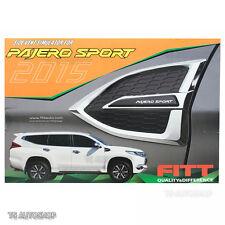 For Mitsubishi Pajero Montero Sports SUV 2016 Chrome Side Vent Fender Door Cover