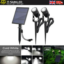 Separated Dual Solar LED Cold White Spot Wall lights Garden Outdoor lamps 6000K