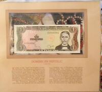 Most Treasured Banknotes Dominican Rep. 1980 1 Peso P117a UNC prefix E suffix Z