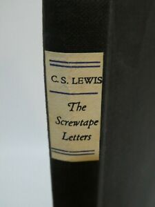The Screwtape Letters by C.S.Lewis Hardback Bles 1945 Philosophy Christianity