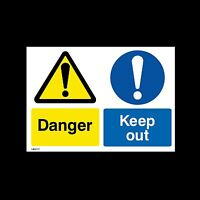 Danger Keep Out - Plastic Sign, Sticker- All Sizes - MISC111