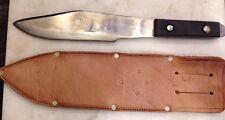 Vintage New Old Stock Tru-Bal Bowie Axe Fighting Knife Vietnam Era Leather Case