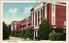 HICKORY, North Carolina  NC   HICKORY HIGH SCHOOL  ca 1940s Linen   Postcard
