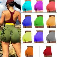 Women's Gym Yoga Shorts Plain Cycle Sports Fitness Stretch Hot Pants Mini Shorts