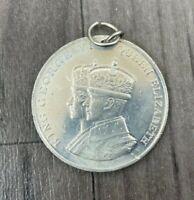 Authentic Antique Coronation George VI Elizabeth 1937 Medal Rare