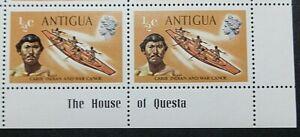 ANTIGUA 1970 SG323  ½c. CARIB INDIAN AND WAR CANOE  -  MNH