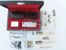 Minolta 16 MG spy camera set: flash, instructions, 3 fliers, 3 lenses, more...