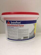 (5,76€/L)Baufan Antischimmel Farbe Schimmel Schutz Farbe weiß 2,5L