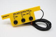 Anti Static ESD Grounding / Bonding Slim Line Bracket 3 x 4 mm Banana Sockets