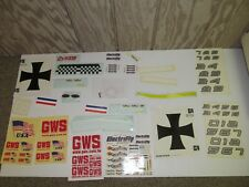 RC Airplane Sticker Lot of RC PLANE DECALS/ STICKERS ( COLLECTION LOT)