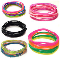 12 Gummy Wristband Bangle Jelly Rubber Shag Band Party Bag Friendship Gummies