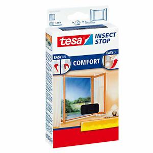 TESA Fliegengitter COMFORT für Fenster ANTHRAZIT / WEIß