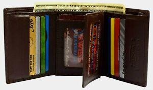 Swiss Marshall Men's RFID Blocking Premium Leather Classic Trifold Wallet