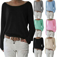 Women Long Sleeve Pullover Casual Blouse Loose Baggy Jumper Shirt Top Sweatshirt
